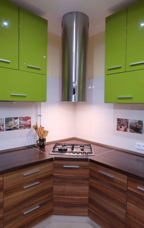 Élénkzöld konyha